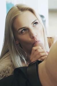 Model Katy Sky in Free House Episode 1 Departure