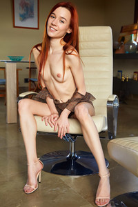 Model Sherice in Executive Chair