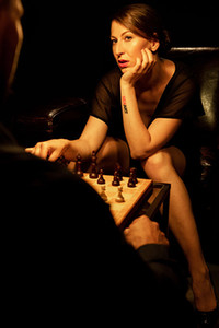 Model Emylia Argan in Checkmate