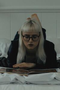 Model Alice Crowley in Black Revolver